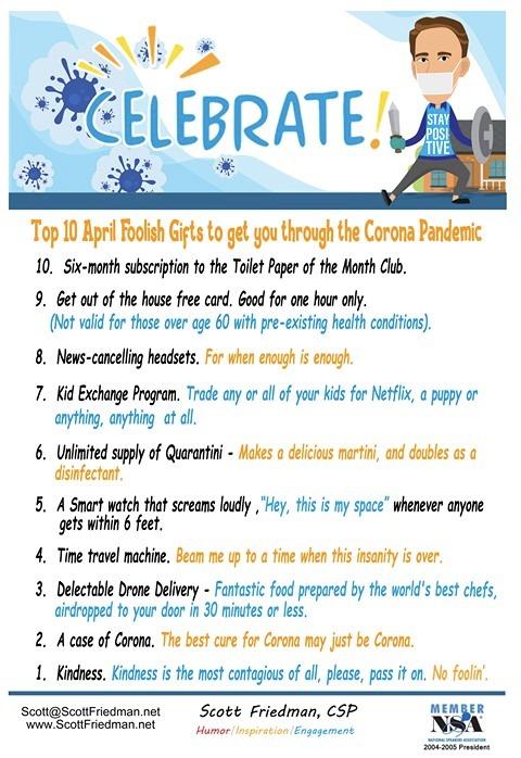Top 10 April Foolish Gifts To Get You Through The Corona Pandemic