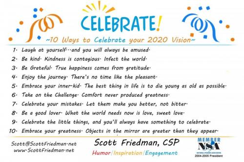 10 Ways To Celebrate Your 2020 Vision