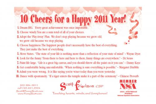 10 Cheers for a Happy 2011 Year